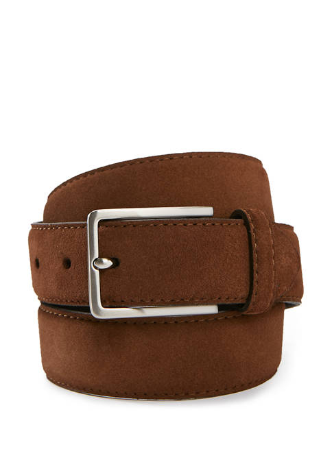 35 Millimeter Dropped Edge Suede Belt