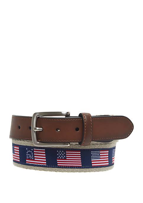 Flag Ribbon Overlay Belt