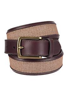Cut Edge Fabric Belt