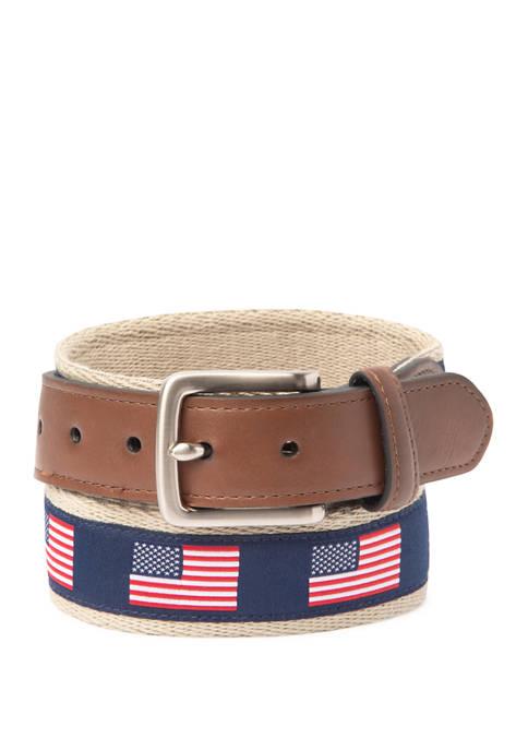 Crown & Ivy™ 35 Millimeter Flag Ribbon Belt