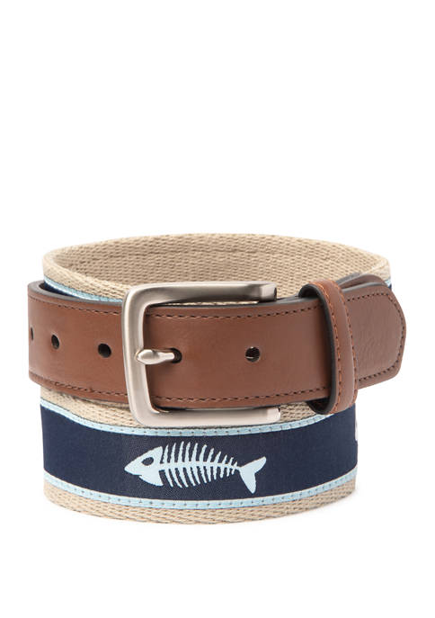 Crown & Ivy™ 35 Millimeter Khaki Web Navy