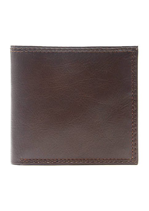 Crown & Ivy™ RFID Leather Hipster Wallet