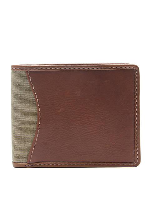 Crown & Ivy™ RFID Leather Slimfold Wallet