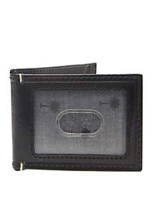 Crown & Ivy™ RFID Leather Front Pocket Wallet With Magnetic Money Clip