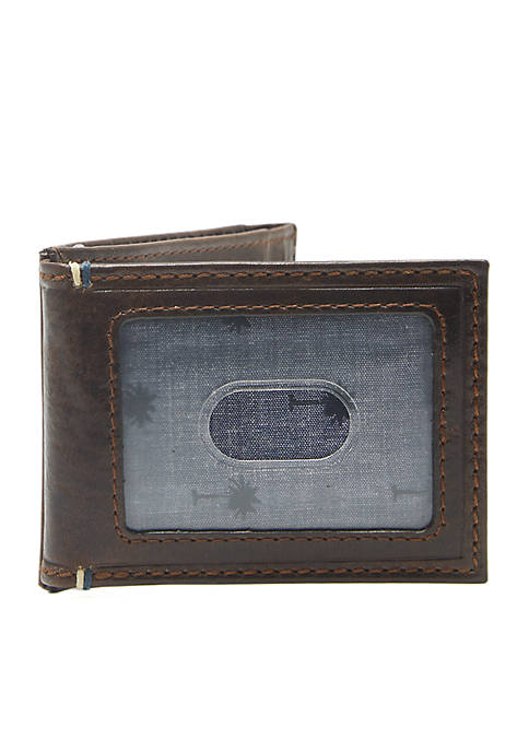 Crown & Ivy™ RFID Leather Front Pocket Wallet