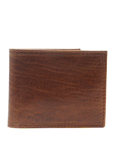 RFID Leather Passcase Wallet