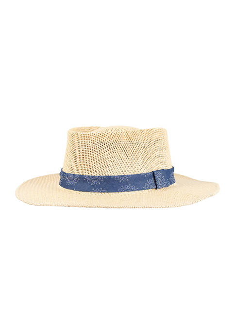Straw Gambler Hat
