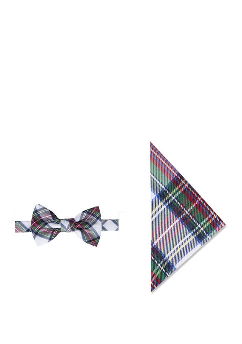 Crown & Ivy™ Snow Tartan Bow Tie and
