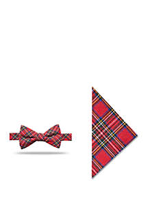 Clifton Tartan Bow Tie and Pocket Square Set