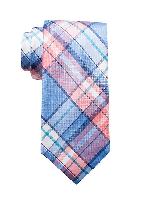 Crown & Ivy™ Palm Beach Madras Neck Tie