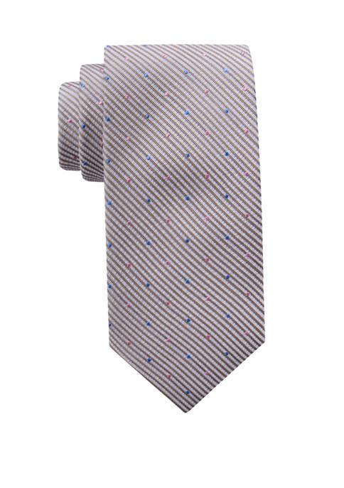 Crown & Ivy™ Caroline Dotted Stripe Necktie