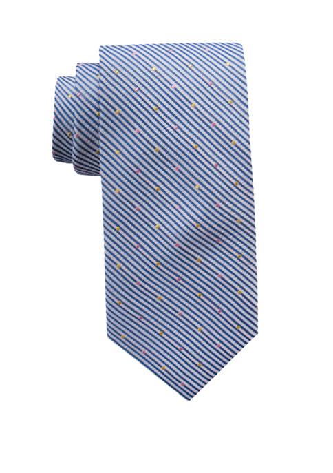 Caroline Dotted Stripe Necktie