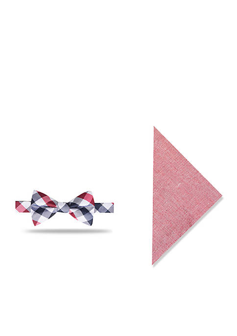 Crown & Ivy™ Catalina Gingham Set Bow Tie