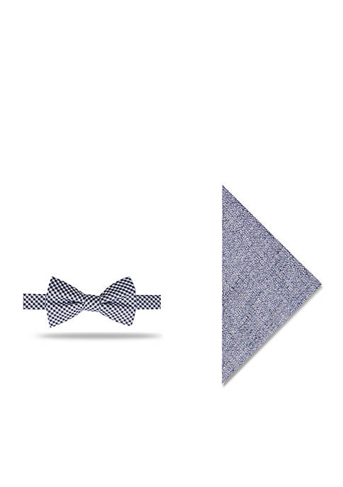 Crown & Ivy™ Cayce Gingham Set Bow Tie