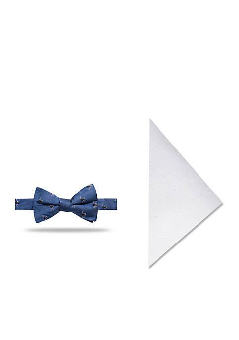 Crown & Ivy™ Ostrich Novelty Bow Tie Set
