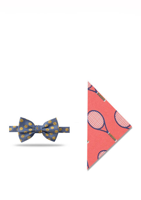 Crown & Ivy™ Tennis Bow Tie and Pocket