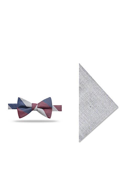 Canary Stripe Bow Tie Set