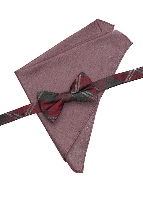 Crown & Ivy™ Bingham Plaid Bow Tie Pocket