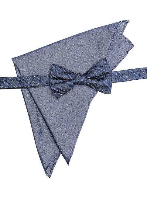 Crown & Ivy™ Brenner Stripe Bow Tie Pocket