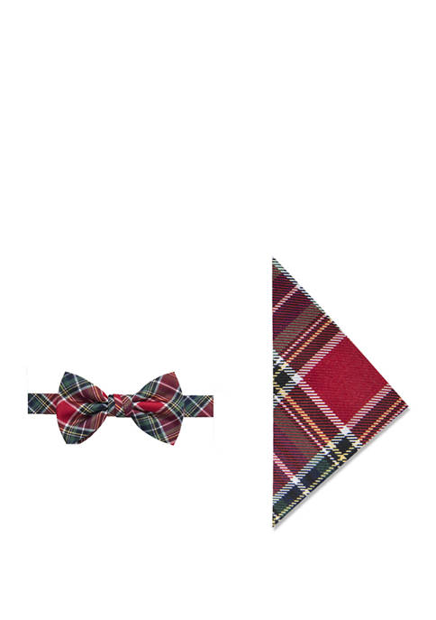 Crown & Ivy™ Holiday Tartan Bow Tie and