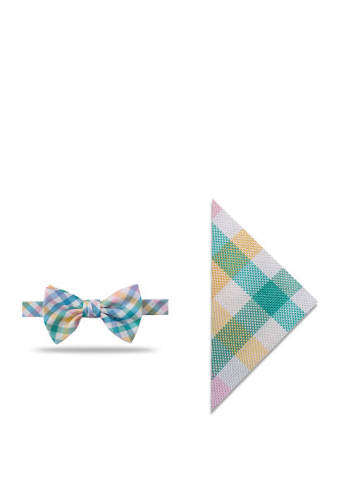 Crown & Ivy™ Easter Check Bow Tie and