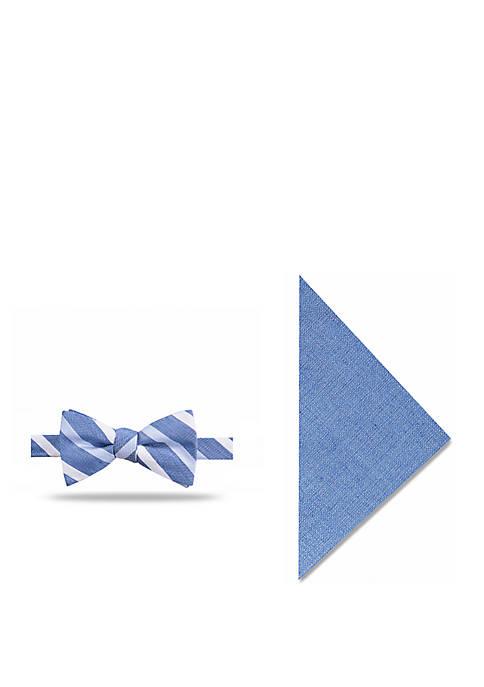 Crown & Ivy™ Cardiff Stripe Bow Tie Set