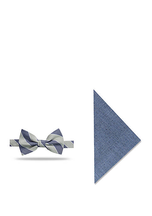 Crown & Ivy™ Cornelius Stripe Bow Tie and