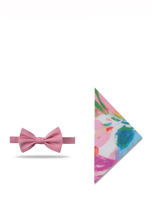 Crown & Ivy™ Mens Camille Watercolor Floral Bow