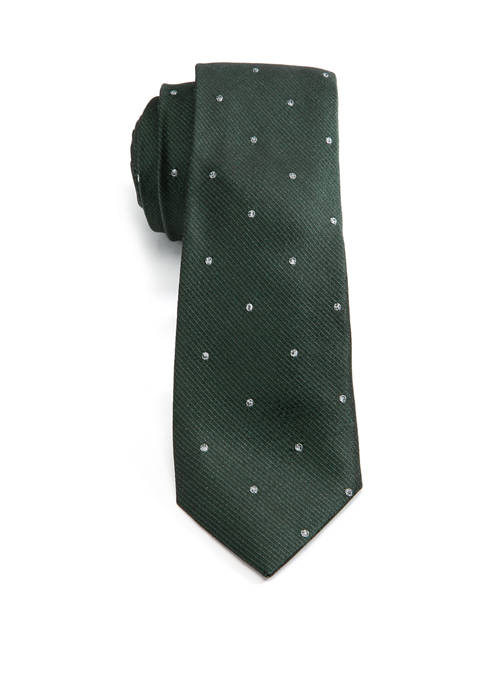 Crown & Ivy™ Mens Bucks Dot Necktie