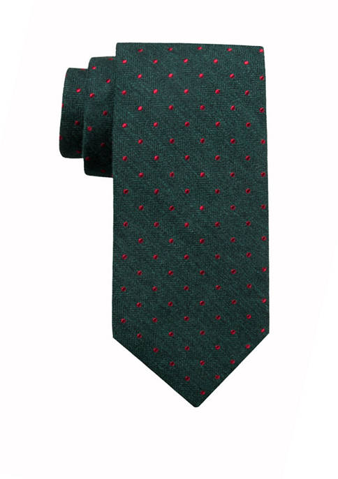 Crown & Ivy™ Mens Holiday Dundee Dot Tie