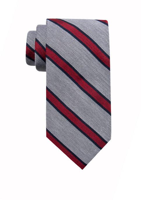 Crown & Ivy™ Holiday Corner Stripe Tie