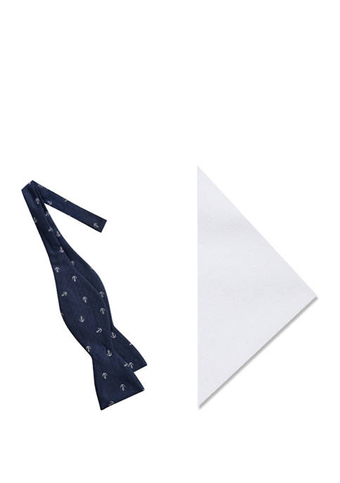 Crown & Ivy™ Daren Anchor Bow Tie and