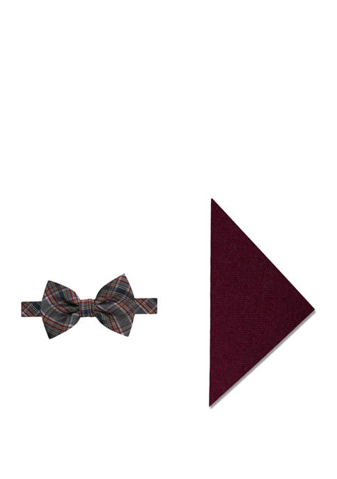 Crown & Ivy™ Montana Plaid Bow Tie and