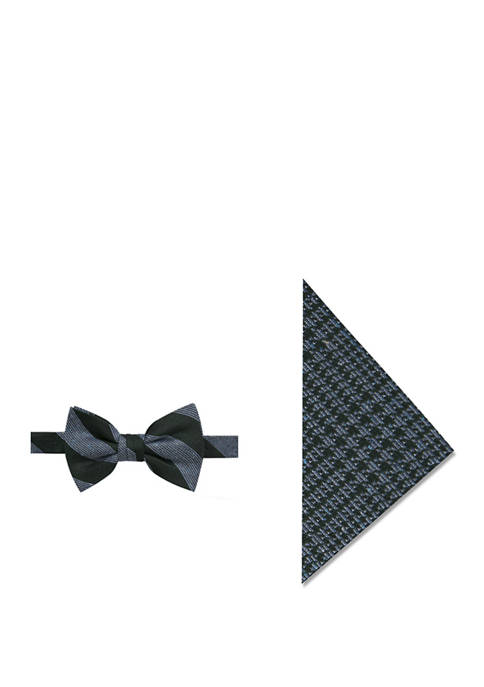 Crown & Ivy™ Mens Noil Stripe Bow Tie