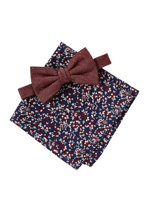 Crown & Ivy™ Floral Bow Tie and Pocket