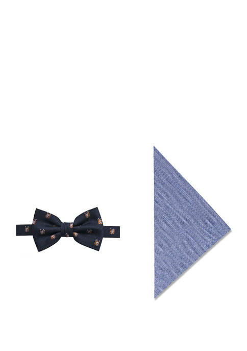 Bella Bulldog Bow Tie and Pocket Square Set