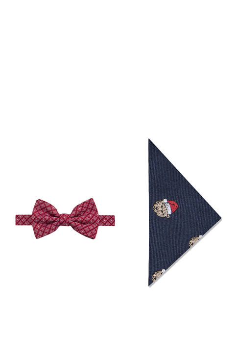 Crown & Ivy™ Grizzly Santa Bow Tie and