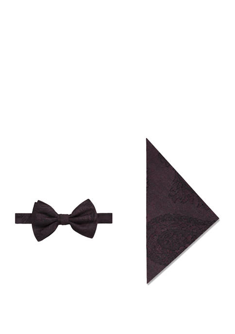 Event Paisley Bow Tie and Pocket Square Set