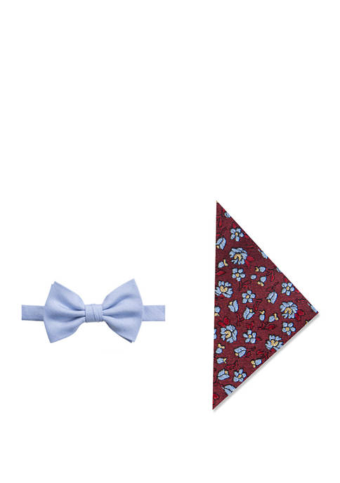 Dan Ditsy Floral Bow Tie and Pocket Square Set