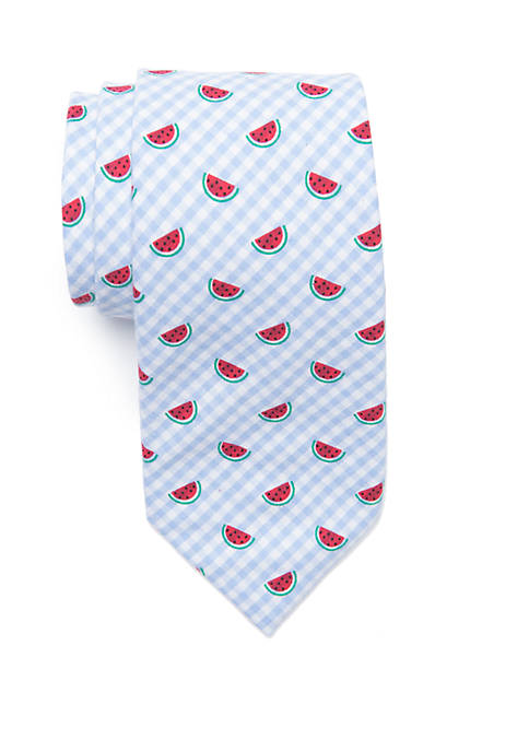 Crown & Ivy™ Gingham Melon Tie