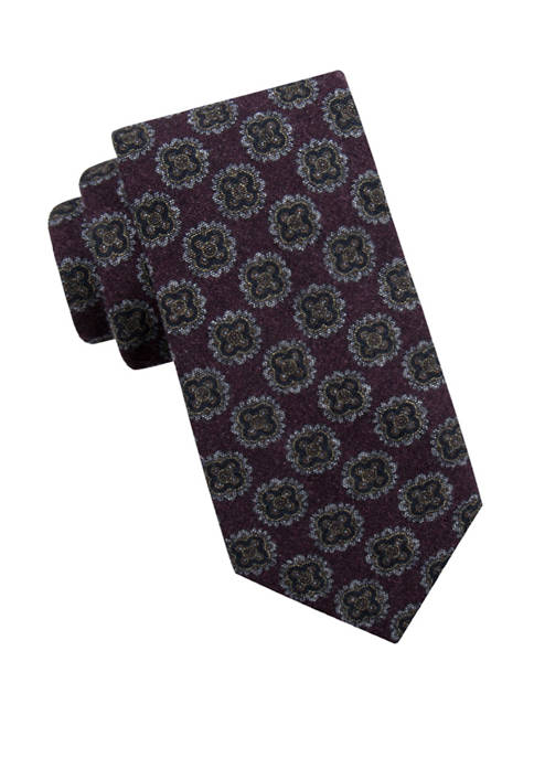 Crown & Ivy™ Mens Nellie Medallion Necktie