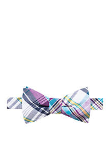 Sea Everly Check Bow Tie and Pocket Square Set