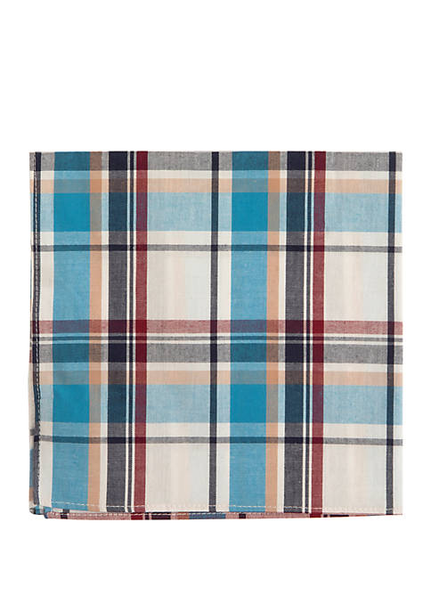 Crown & Ivy™ Moraine Plaid Pocket Square