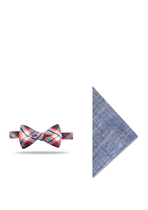 Crown & Ivy™ Bud Plaid Bow Tie and