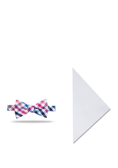 Crown & Ivy™ Sea Elk Check Bow Tie