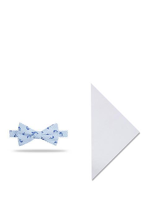 Crown & Ivy™ Swordfish Stripe Bow Tie And