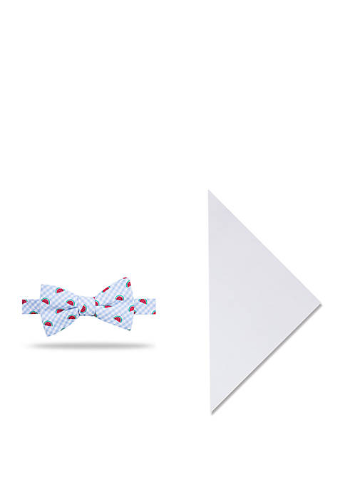 Crown & Ivy™ Gingham Melon Bow Tie and