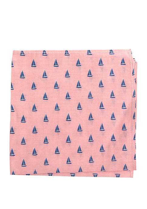 Crown & Ivy™ Escape Boat Pocket Square