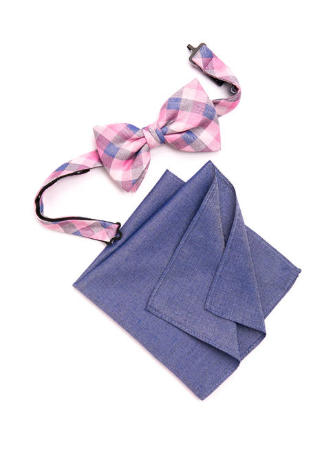 Crown & Ivy™ Ridge Check Bow Tie and