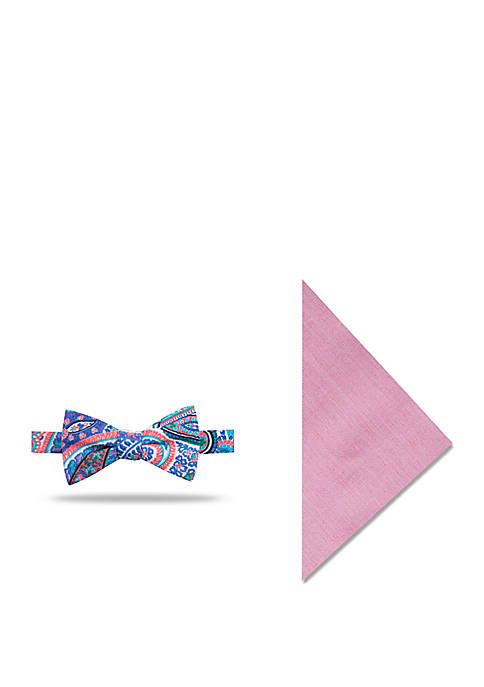 Crown & Ivy™ Brodie Paisley Bow Tie and